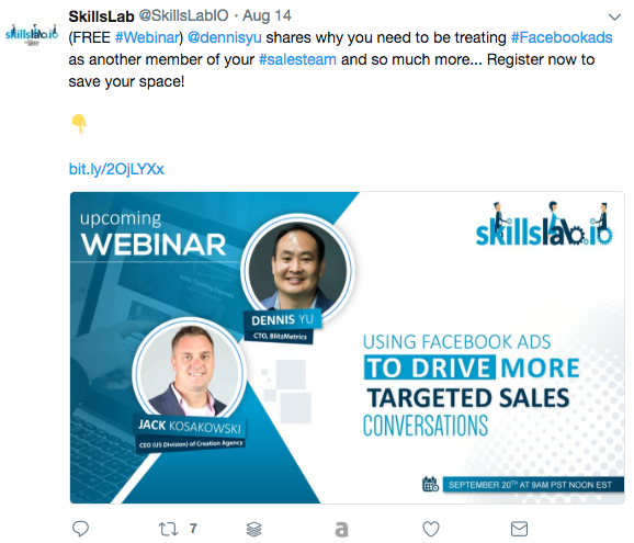 "<img src=""how_to_add_a_webinar_that_converts_tweet_post.png"" alt=""a Twitter post about an upcoming Webinar with two headshots of the presenters""/>"